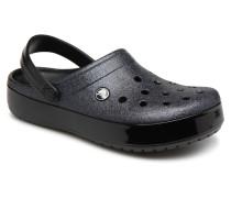 Crocband Glitter Clog F Clogs & Pantoletten in schwarz