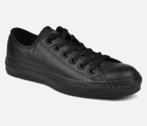 Chuck Taylor All Star Monochrome Leather Ox W Sneaker in schwarz