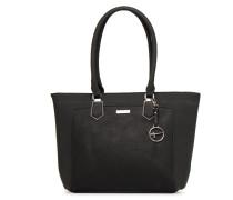 Elsa Zippé Shopping Bag Handtasche in schwarz