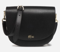 CHANTACO CUIR ROUND CROSSOVER BAG Handtasche in schwarz