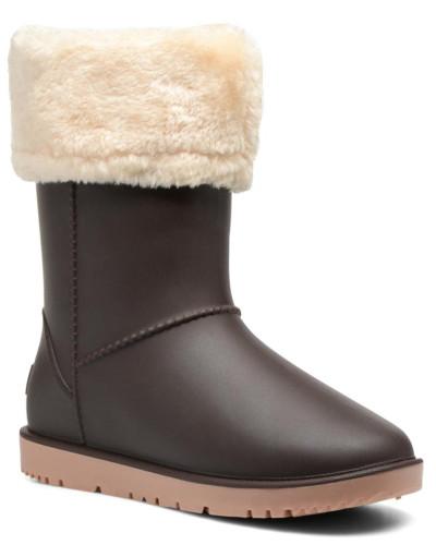 Hoodie Stiefeletten & Boots in braun