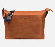 MAT & SHINY LINE MINI BAG Handtasche in braun