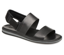 Spray Sandalen in schwarz
