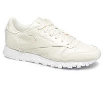 Classic Leather Patent Sneaker in weiß