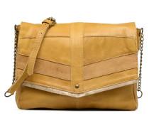 Frances Leather L Crossbody Handtasche in gelb
