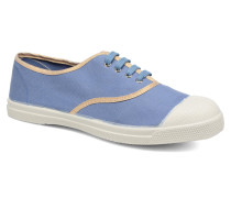 Tennis Shinypiping Sneaker in blau