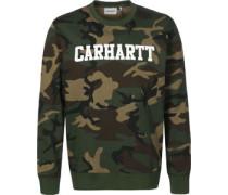 College Sweater oliv braun schwarz