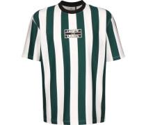 Herren T-Shirt weiß grün gestreift