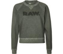 Daefera cropped r sw W Sweater oliv grün