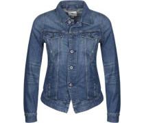 3301 Jeansjacke Damen blau meliert