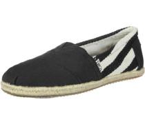 Alpargata Schuhe schwarz weiß