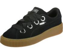Platform Kiss Suede Damen Schuhe schwarz