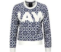 Rc pg cropped r W Sweater weiß blau