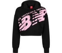Wt93572 Damen Hoodie schwarz pink