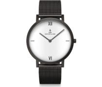 Pure Lux Mesh Uhr schwarz