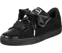 Suede Heart Bubble Damen Schuhe schwarz