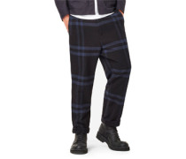 Bronson Loose Non Denim Pants Hose schwarz blau kariert schwarz blau kariert