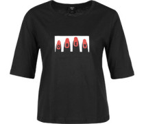 Cracked Nail W T-Shirt schwarz weiß rot