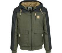 Dock36 Worker Winterjacke oliv blau