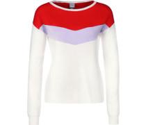 Jumper Triangle W weater weiß rot
