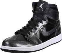 1 Retro High Schuhe schwarz silber