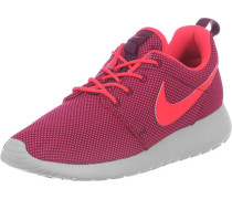 Roshe One Schuhe Damen weinrot neon grau