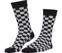 Checker 2-Pack Socken schwarz weiß