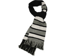 Long Varsity Schal schwarz grau