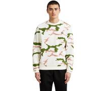 Camouflage Herren weater weiß oliv