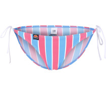 Lala Damen Bikini Unterteil pink blau gestreift