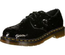 1461 Damen Schuhe schwarz silber