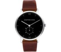 Heritage Silver Uhr braun schwarz