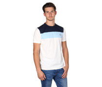 Colour Block Panel T-Shirt weiß