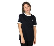 Taped Ringer W T-Shirt blau weiß
