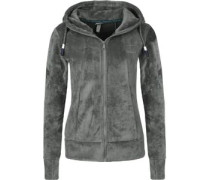 Through W Fleecejacken Fleecejacke grau grau