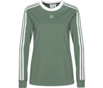 3 Stripes Longsleeve Damen grün
