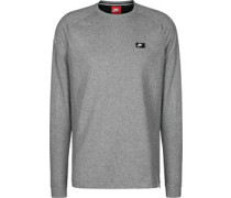 Modern Crew Sweater grau meiert