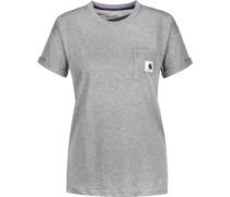 Carrie Pocket W T-Shirt Damen grau meliert EU