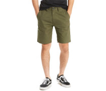 Straight Chino Shorts Herren oliv