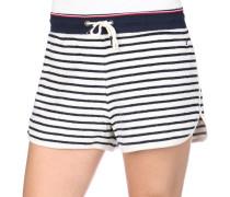 Damen Shorts blau weiß gestreift