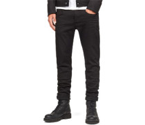 3301 Slim Jeans Herren black rinsed EU