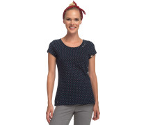 Mind Dots T-Shirt Damen blau