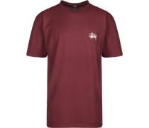 Basic T-Shirt weinrot EU