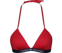 Tommy Hifiger Core Soid ogo Triange Fixed Bikini Obertei Damen rot
