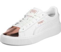 Platform Metallic W Lo Sneaker Schuhe weiß weiß