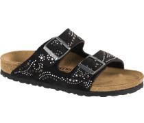 Arizona Sandalen schwarz silber schwarz silber (schmal) EU