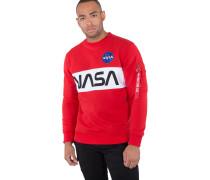 Nasa Inlay Herren Sweater rot