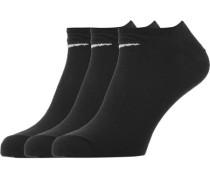 No Show 3er Pack Socken schwarz