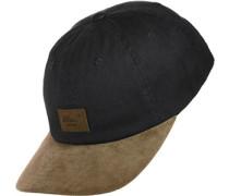Curved Suede Cap schwarz braun