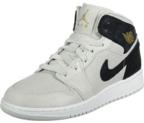1 Mid Gs Hi Sneaker Schuhe grau schwarz grau schwarz